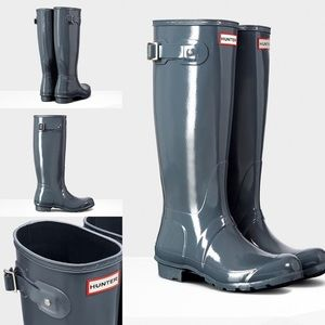 Hunter Boots Original Tall Gloss- graphite